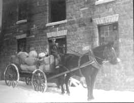 Wagon loaded with Grain 1880's