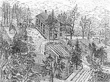 The Mill and House Complex in 1835